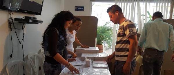 Consulado de Colombia en San Antonio del Táchira inició jornada final del proceso electoral en el exterior para Congreso y consultas interpartidistas 2018